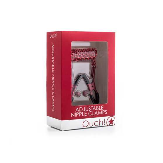 Adjustable Nipple Clamps (Red) in box