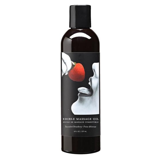 Edible Massage Oil Strawberry 8 OZ
