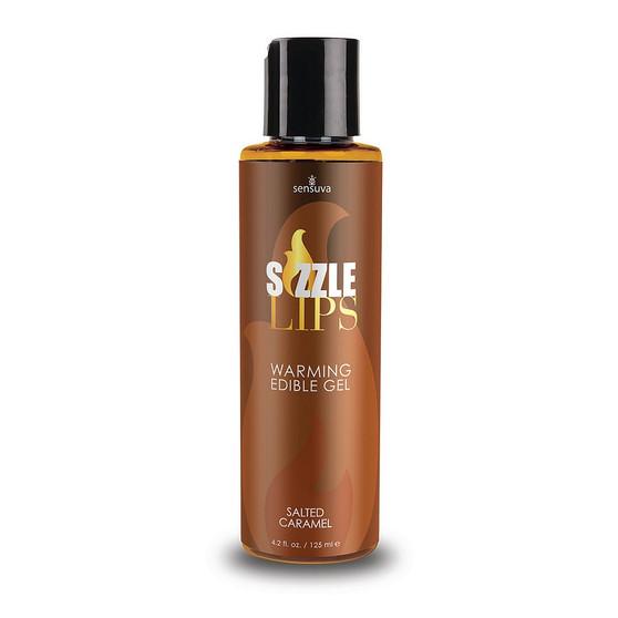Sizzle Lips Edible Warming Gel Salted Caramel 4.2 OZ