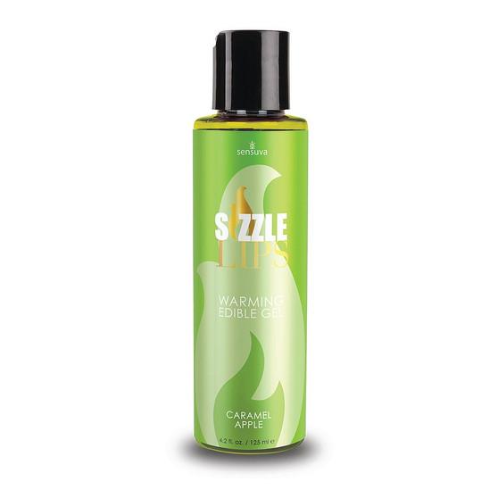 Sizzle Lips Edible Warming Gel Caramel Apple 4.2 OZ