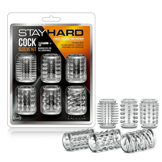 Stay Hard Cock Sleeves (Clear) with package