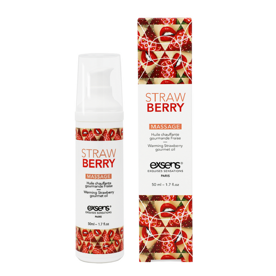 Strawberry Warming Intimate Massage Oil 1.7oz