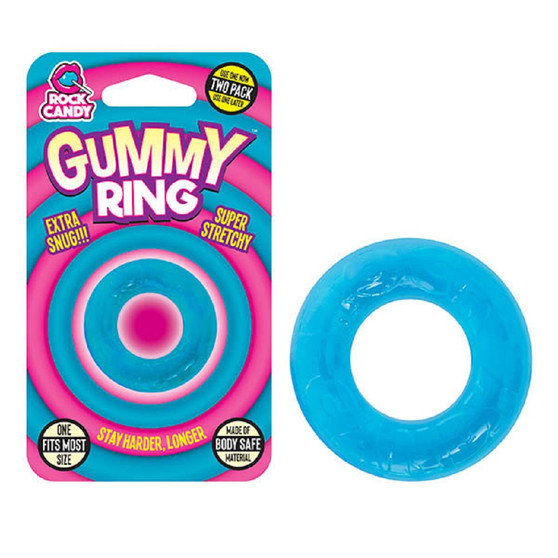 Gummy Ring (Blue) with package