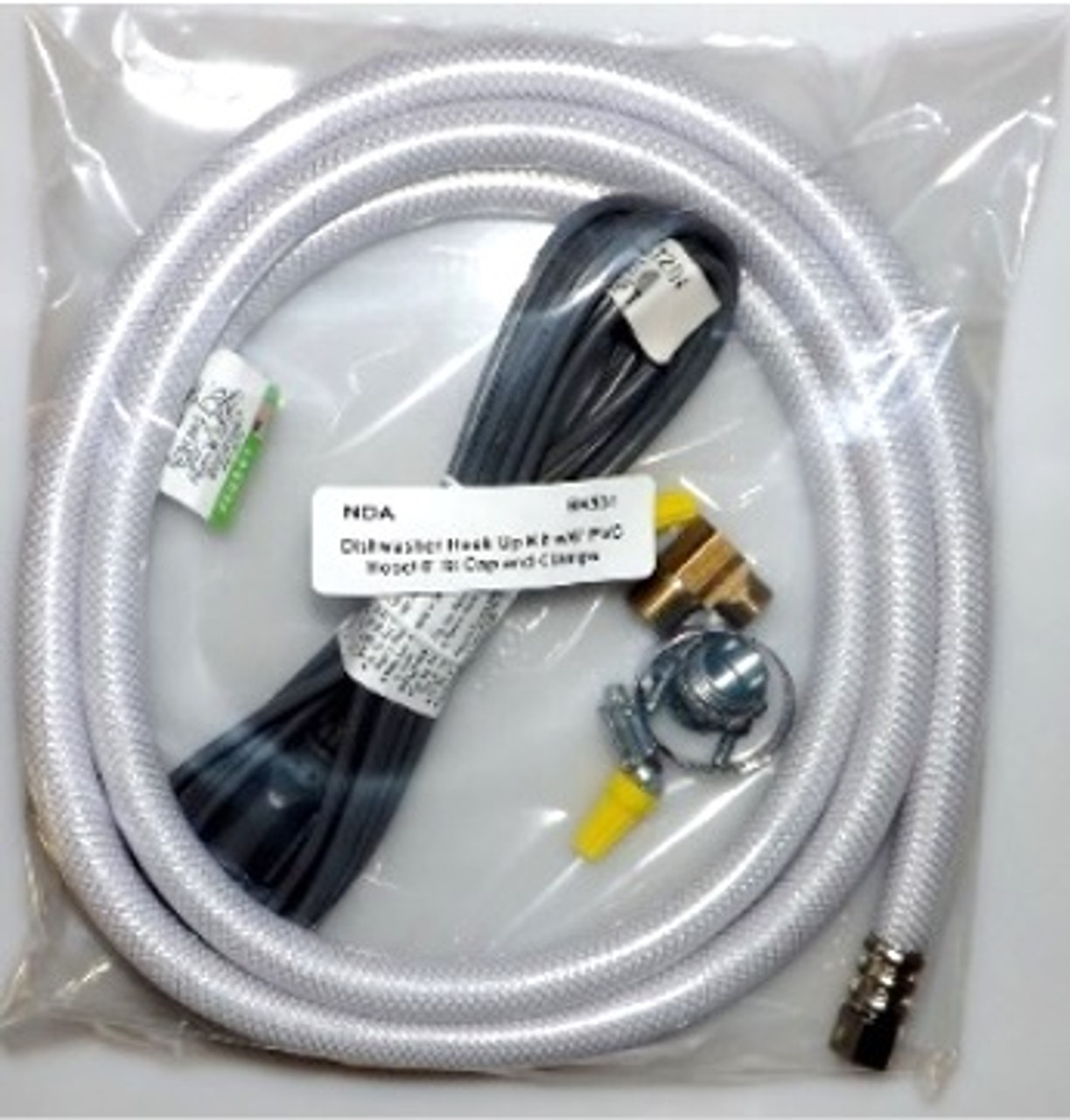DISHWASHER HOOKUP KIT-STRAIGHT CORD-WHITE POLY HOSE