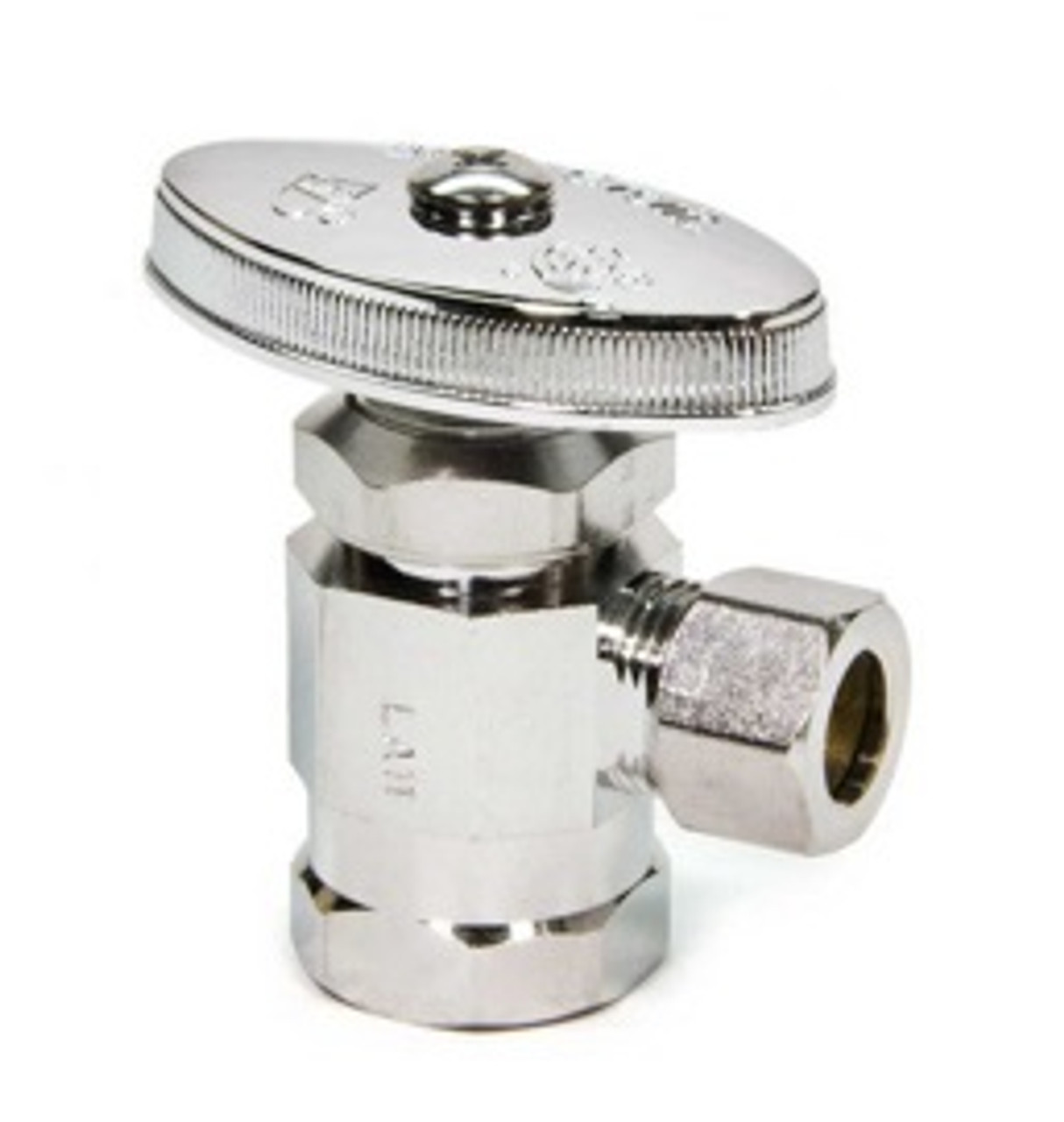 "1/2""FIP x 3/8""OD COMP-1/4 TURN ANGLE STOP-CHROME"