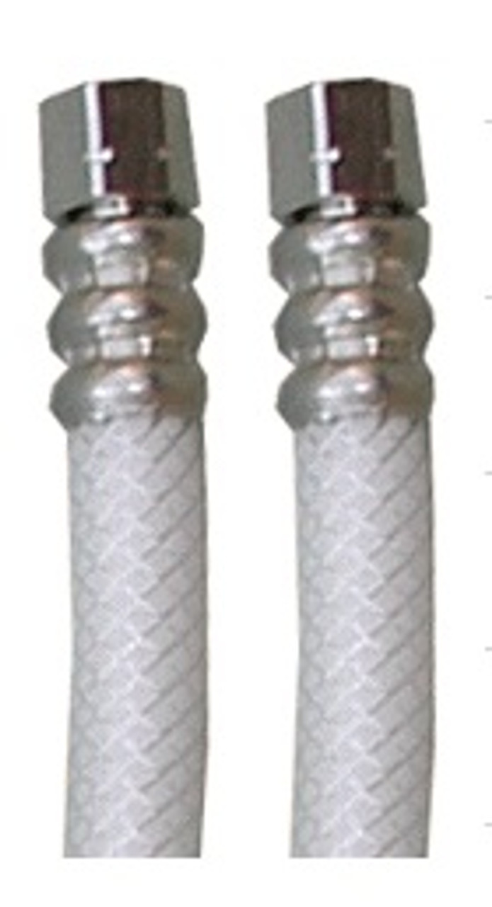 "6' 1/4""c x 1/4""c BRAIDED POLY LEADFREE ICEMAKER FILL HOSE"