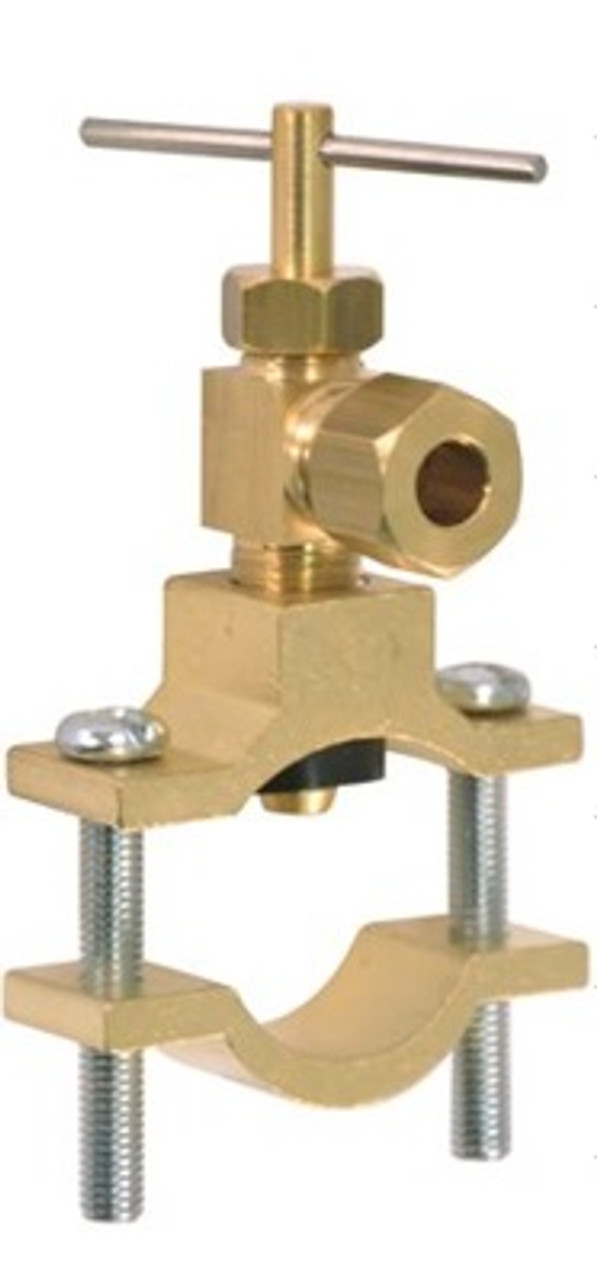 "1/4"" SADDLE VALVE (NON PIERCING)DRILL TYPE-FITS 1/2""OD THROUGH 3/4""OD TUBE"