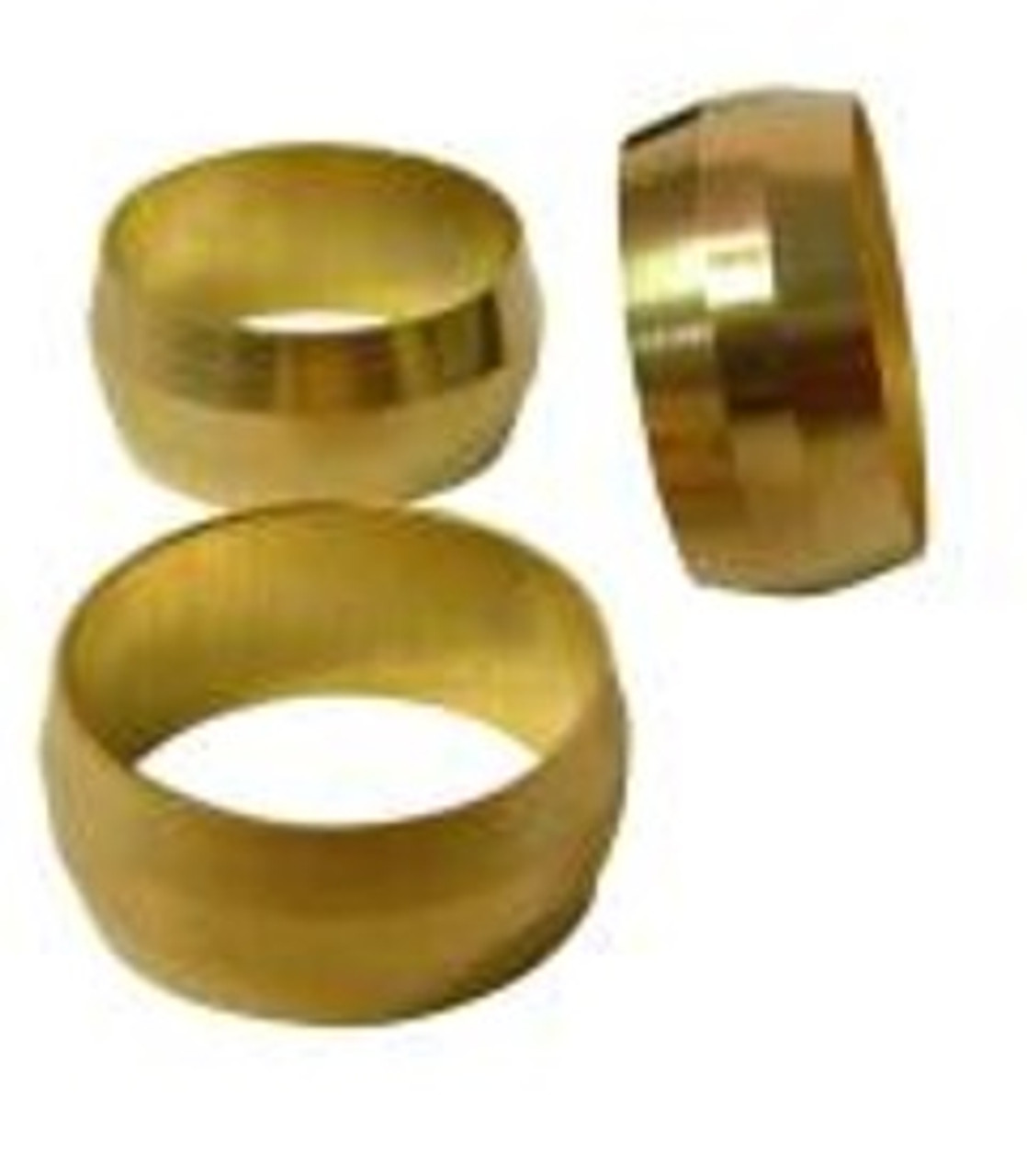 """COMPRESSION SLEEVE 1/4""""-100PACK-BRASS"""