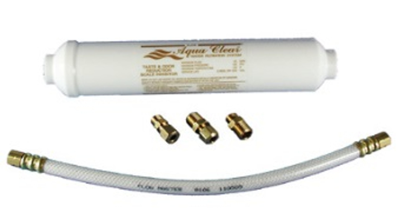 """LIME & SCALE FILTER 10"""" w/1' 1/4""""c x 1/4""""c BRAIDED POLY FILL HOSE & FITTINGS"""