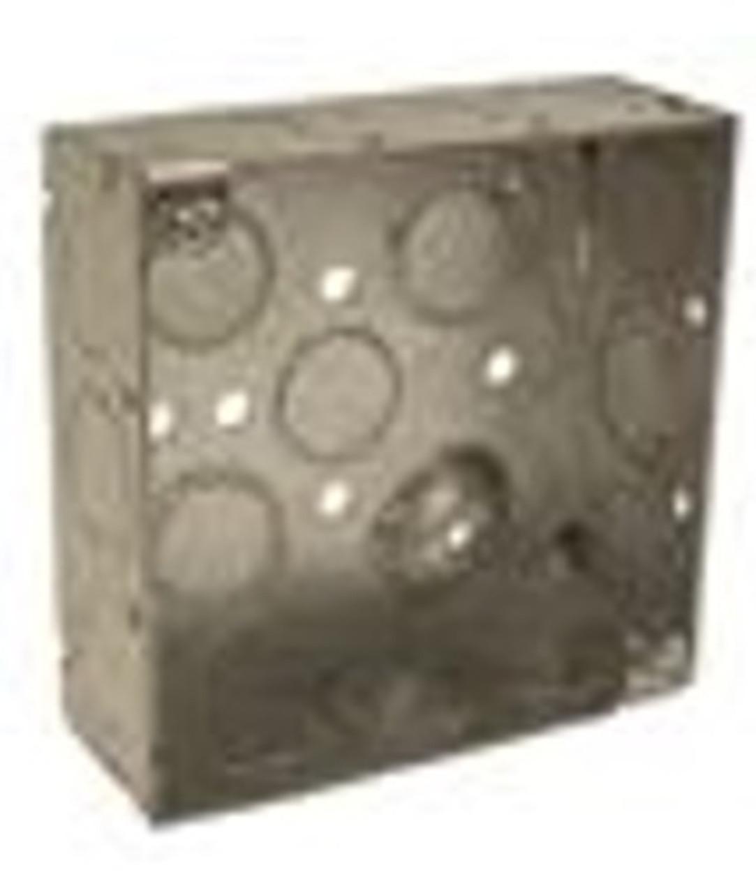 """SQUARE BOX 4"""" x 1 1/2"""" DEEP 1/2"""" & 3 /4""""KO"""