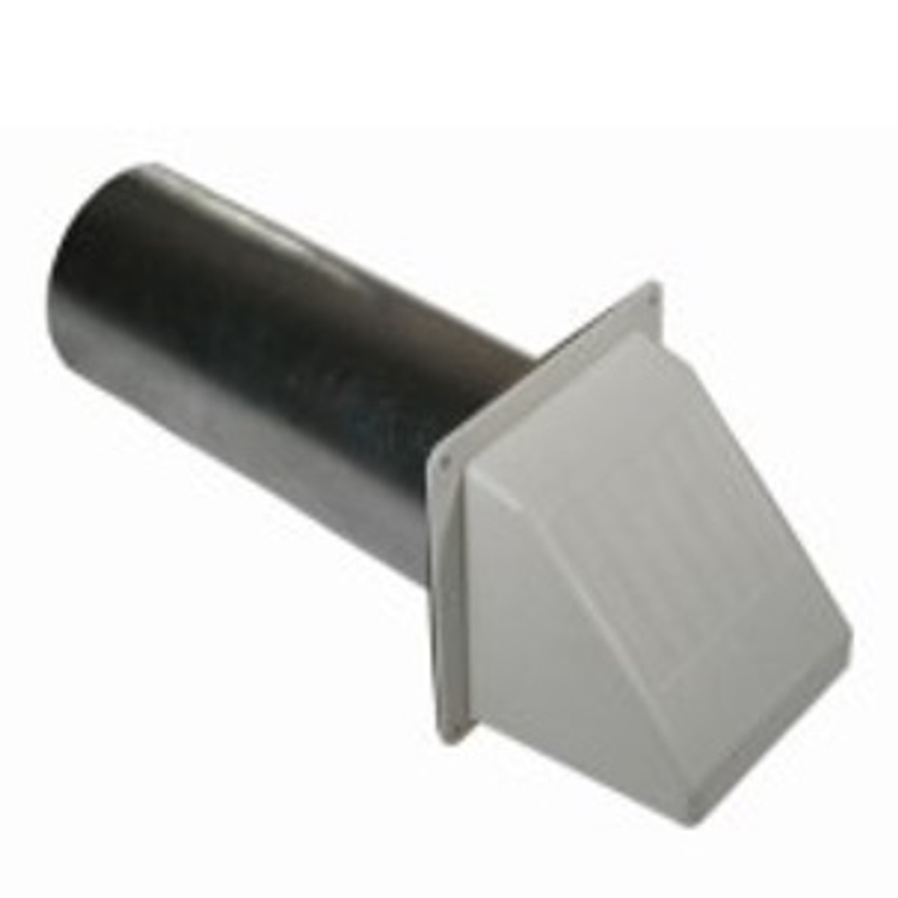 """4"""" WIDE MOUTH DRYER VENT w/PIPE - WHITE"""