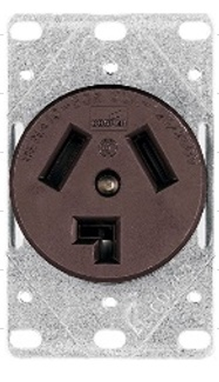 30AMP-220V 3-WIRE DRYER FLUSH MOUNT RECEPTACLE
