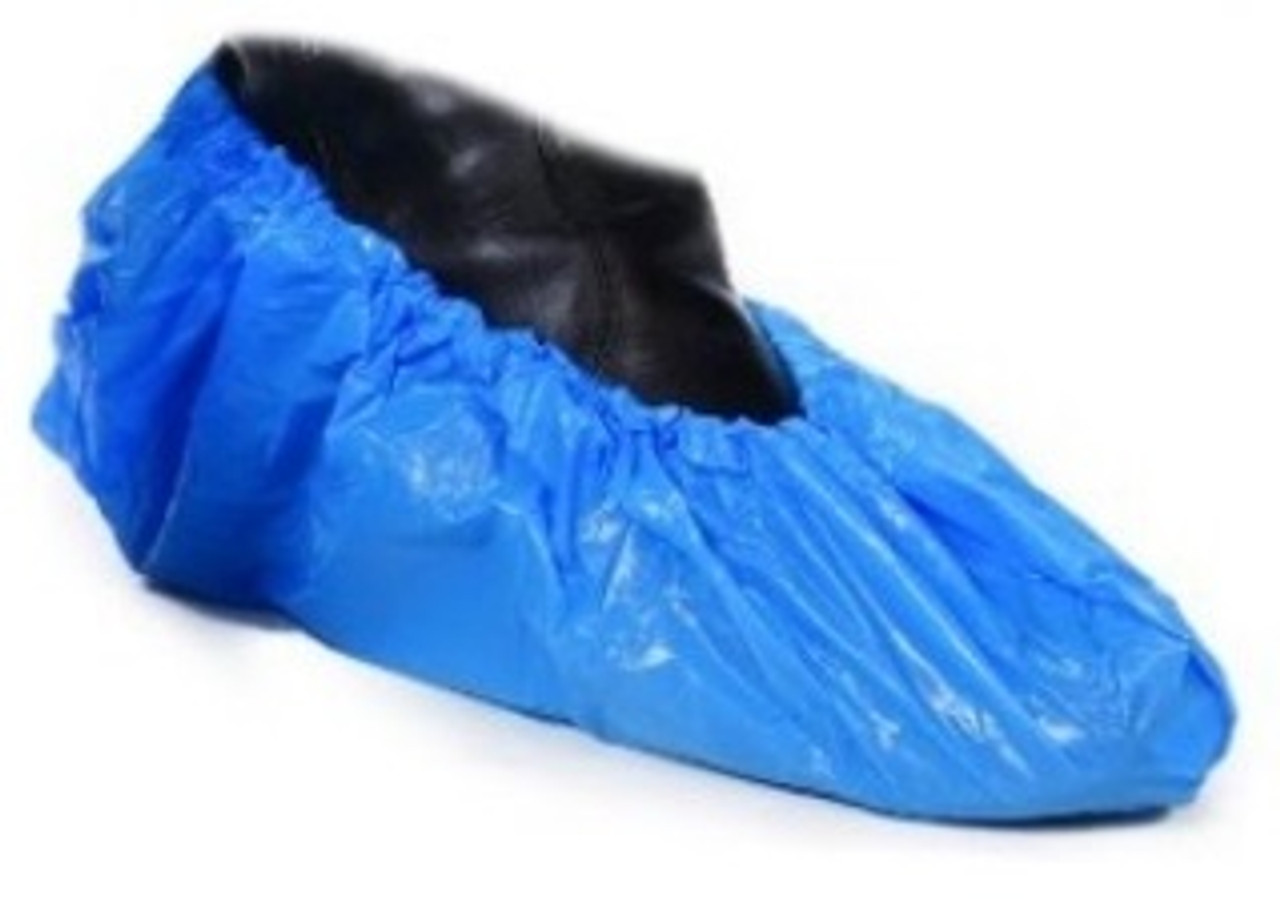 POLY BOOT COVER-WATER RESISTANT-50 PAIRS-SIZE 12-15
