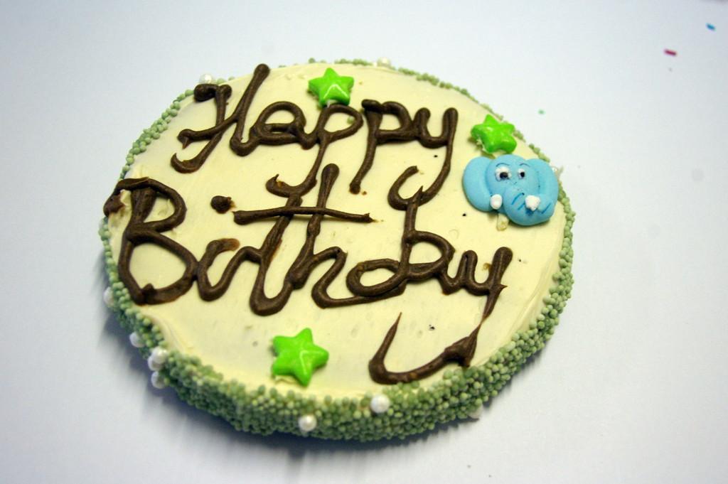 Dog Birthday Cake - Yoghurt - 1pce