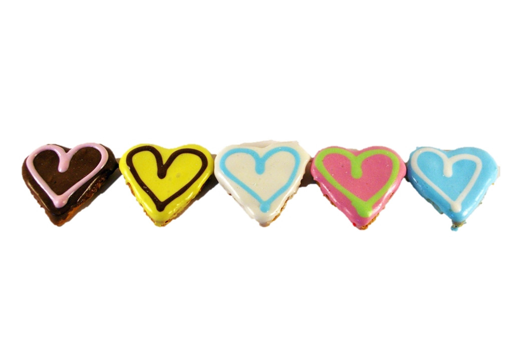 The Cutest Little Doggy Love Hearts - Gourmet Dog Treats to show you care.