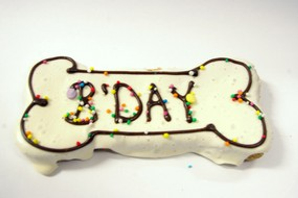 Large Dog Bone Cookie - BDAY -  Gourmet Dog Treat. Australian made.  Great at Puppy Parties