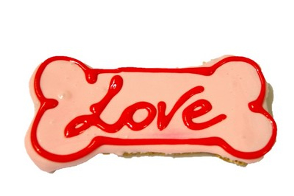 Large Dog Bone Cookie - LOVE -  Gourmet Dog Treat. Australian made.  Great at Puppy Parties