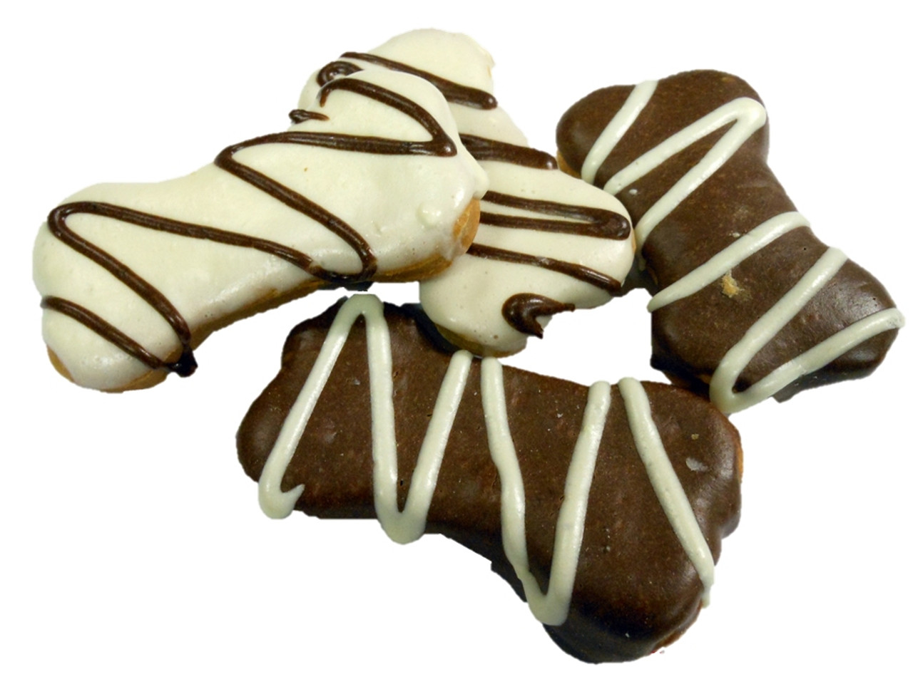 Carob And Yoghurt Frosted Bones Dog Treats 3pce For Fun