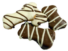 Carob and Yoghurt Frosted Bones Gourmet Dog Treats - Australian Made