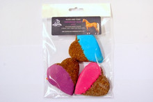 Peppermint Big Heart Molasses and Oat Horse Cookies 3pce - Horse Treats by Huds and Toke.  The Original Australian Horse Treat COmpany