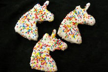 Magical Unicorn Horse Treat Cookie - 3pce Molasses and Oat Horse Training Treat by Huds and Toke.  The Original Australian Horse Treat Company.