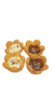 Carob and Yoghurt Sparkle Tarts - Gourmet Dog Treats
