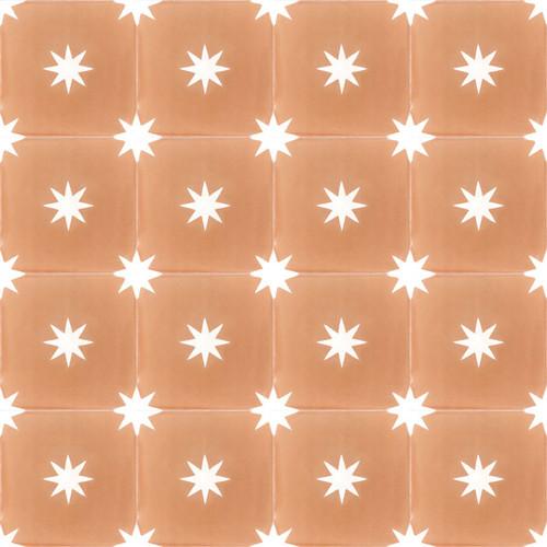 STARS MUSTARD CEMENT TILES