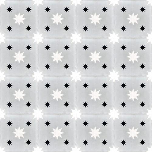 DOUBLE STARS GREY CEMENT TILES