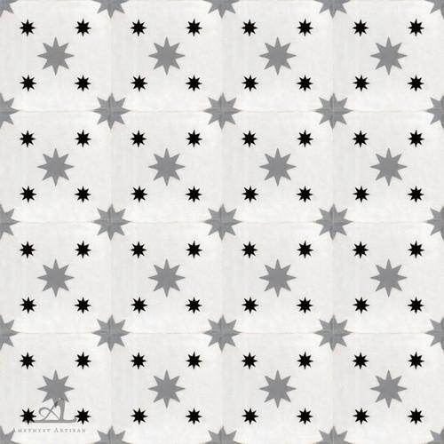 DOUBLE STARS WHITE CEMENT TILES