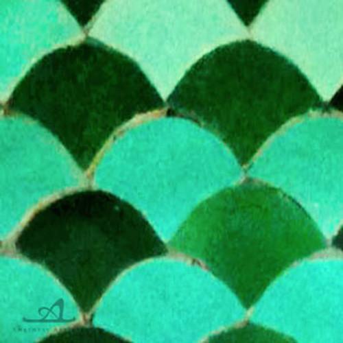 "SCALLOPS JADE & FOREST COMBO (2"") MOSAIC TILES"