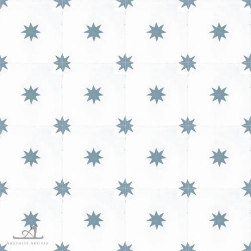 STARS DARK BLUE CEMENT TILES