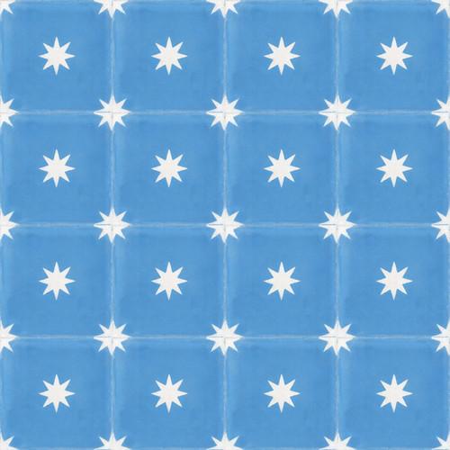 STARS ELECTRIC BLUE CEMENT TILES