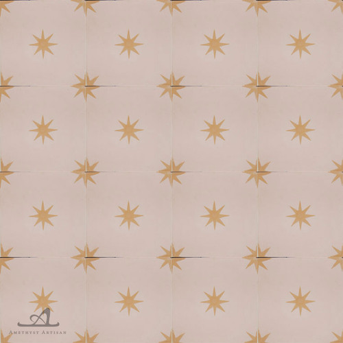 STARS BEIGE CEMENT TILES