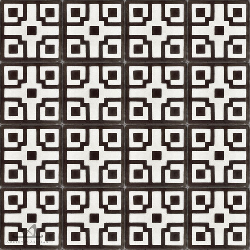 CHINOISE CHARCOAL CEMENT TILES