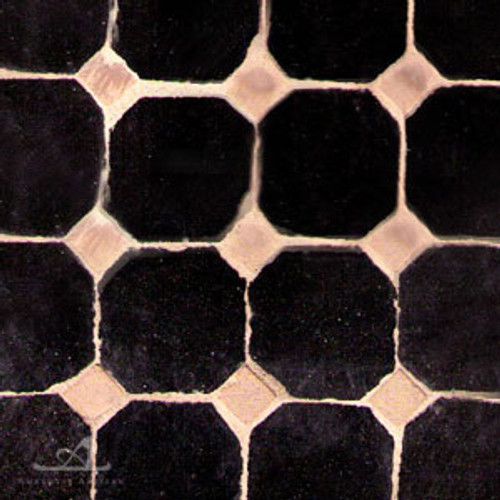 "CORA CAB (1"") BLACK MOSAIC TILES"