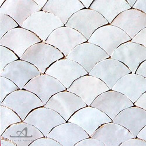 SCALLOPS WHITE MOSAIC TILES