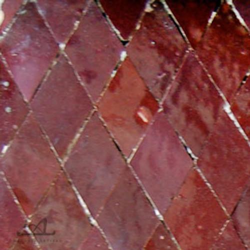 DIAMOND RED MOSAIC TILE