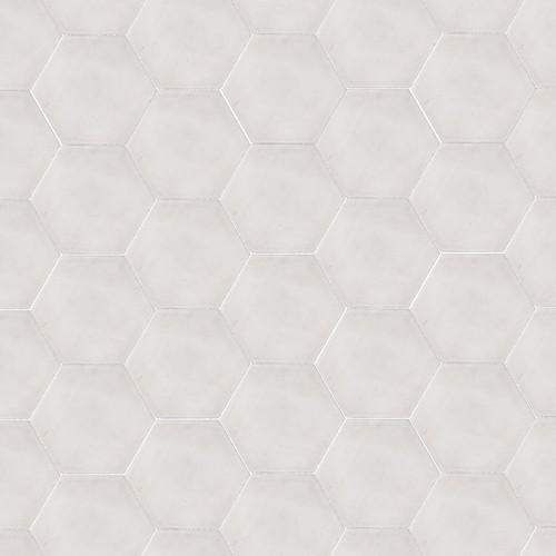 HEXAGON WHITE CEMENT TILES