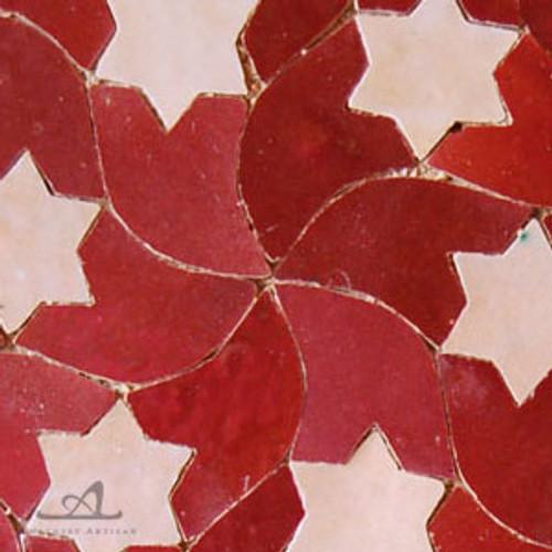 STARS RED MOSAIC TILE
