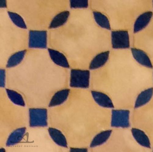 SWAY NATURAL &  BLUE  MOSAIC TILE