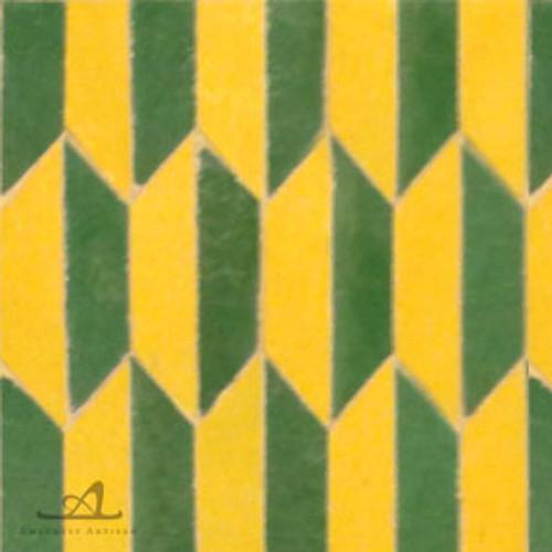 HEXAGON YELLOW & GREEN MOSAIC TILE