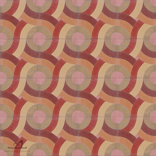 SWIRL COLOMBE CEMENT TILE