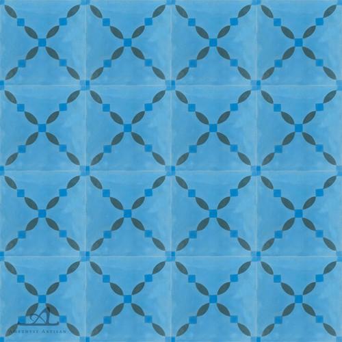 CLOTURE BLUE CEMENT TILES