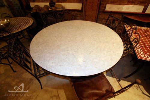 WHITE ANKABOUTI ROUND TABLE