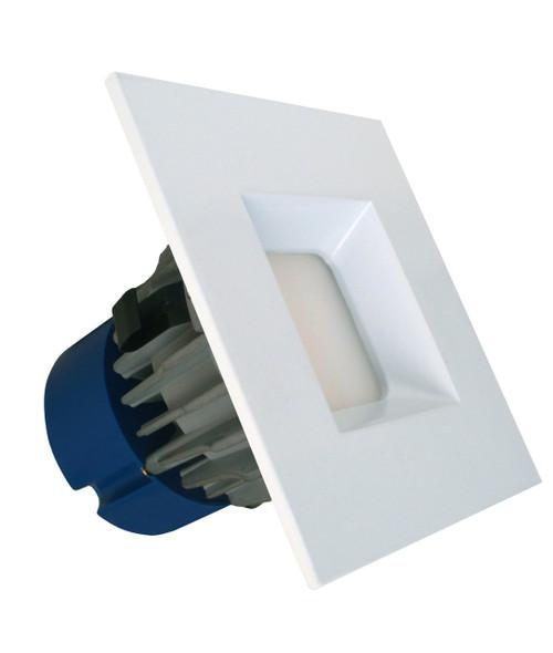 "11w LED 4"" Square Trim Kit DLED-SQ-RET-4-11-40-120 50-100w Equivalent 880 Lumens Quickship (Energy Star)"