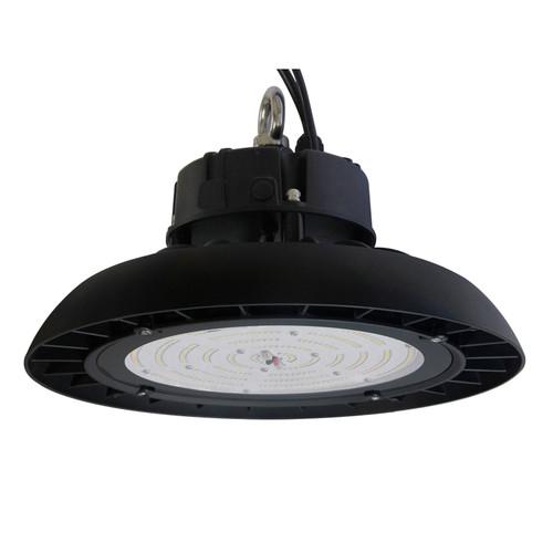 "LED Round High Bay, 150 Watt, 19500 Lumens, 5000 Kelvin, Black, Acrylic, 17.0"" x 8.3"", DLC, 5 Year Warranty, HB150-5000K-90 | Sunpark Electronics for 279.2 at Lightingandsupplies.com"