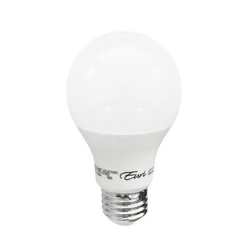 """9w LED A19 5000K, 60w Equal, 800 Lumen, 88.8 lm/w, E26 Base, 80 CRI, Dimmable, 120V, Damp Rating, 2.3"""" x 2.3"""" x 4.3"""", 3yr Warranty, 15000 Hr Life, UL, Energy Star, Plastic Lens, Frosted, EA19-3051e-4 