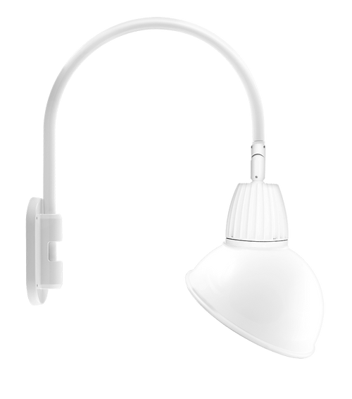 Gooseneck Style4 26W Neutral LED 15 Ad Shade Rect Refl Wh