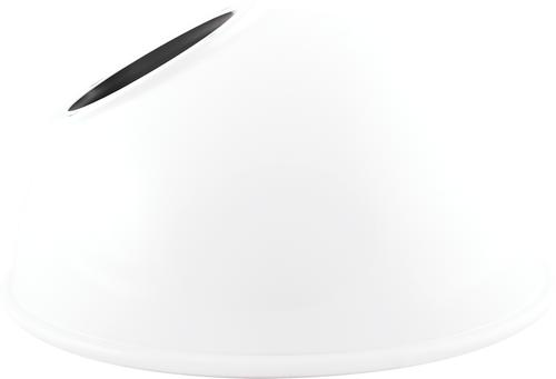 RAB Lighting GSADW Angled Dome Shade For Gnled Gooseneck White, GSADW or RAB
