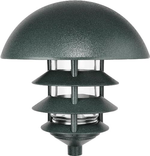 RAB Lighting LLD4VG Lawn Light Dome 4 Tier Incandescent Verde Green, LLD4VG or RAB